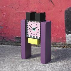 Clock, George Sowden, Memphis Design Memphis Milano, Memphis Art, Memphis Furniture, Traditional Clocks, Nathalie Du Pasquier, Nordic Furniture, 1980s Design, Memphis Pattern, Memphis Design