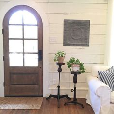 Vintage French Soul  ~   Arched front door