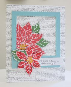 Little Bay Stampin': Christmas in July Week - Day Seven: Poinsettia Polaroid Card