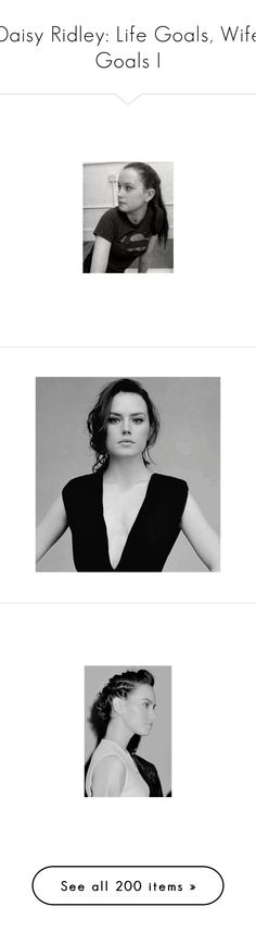"""""""Daisy Ridley: Life Goals, Wife Goals I"""" by hermionelhoranholmes ❤ liked on Polyvore featuring daisy ridley, star wars, black and white, home, furniture, accessories, home decor, daisy, people and rey"""
