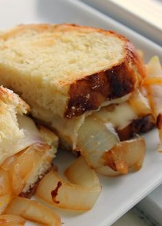 Pretzel Bread and Pretzel Bread Grilled Cheese. Do you hear that?   That's the sound of all other grilled cheese sandwiches crying because they will never be as good as this one.