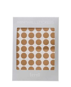 Wandsticker Dots copper mini
