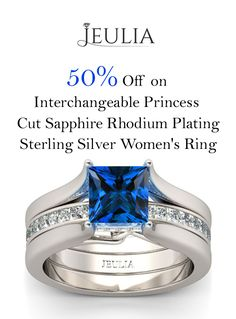 At JUELIA, they are offering 50% discount on Interchangeable Princess Cut Sapphire Rhodium Plating Sterling Silver Women's Ring. Grab up now and avail this offer. For more Jeulia Coupon Codes visit: http://www.couponcutcode.com/stores/jeulia/
