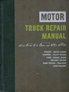 My husband decided to go on a cleaning spree of his workshop which is filled with vintage automobile service and reference books. Please note that all books/manuals came from a Mechanics shop, have been used...some more than others. The condition of each will be noted in the listing below. I have 3 huge stacks of these manuals/books to list so please check back.  This listing is for a c. 1976 hard cover Truck Repair Manual by MOTOR, 29th Edition, First Printing. This is a huge hardc...