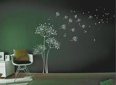 Dandelion Wall Decal. Wall Sticker. by decoryourwall on Etsy, $56.00