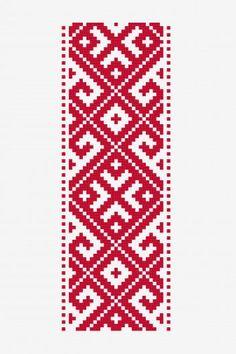 Motif Roumain Géométrique motif point de croix