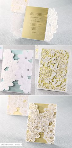beautiful laser cut wedding invitations