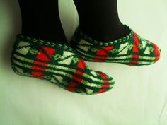 Traditional Hand Knit Turkish Socks Slippers for by Istanbulcolors, $19.50