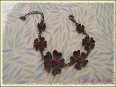 #pulsera #retro #vintage #flores P/V 15 Col. Bracelet Doré Ref. bdop15004 Compras www.eltallerdenoa.com  Consultas info@eltallerdenoa.com