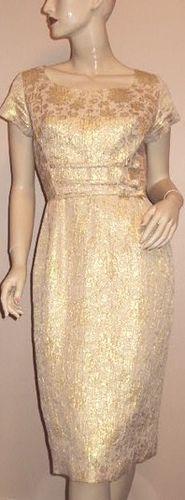 Jeanette Alexander Gold Brocade Dress