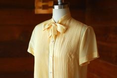 vintage Bergdorf Goodman silk blouse / size by honeytalkvintage