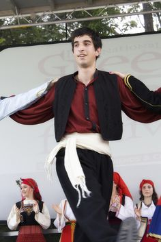 A Greek boy dancing in traditional garb. Image by jball359