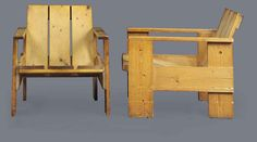 GERRIT THOMAS RIETVELD (1888-1964) | PAIR OF 'CRATE' EASY CHAIRS, DESIGNED 1934 | 20th Century, Furniture & Lighting | Christie's
