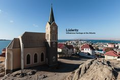 Architecture photo series showing the colonial Wilhelmine architecture of Lüderitz in Namibia at the Atlantic coast of Africa