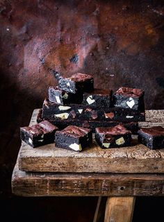 The miso adds a lovely umami flavour to this double chocolate brownie. Cut it into very small squares as it's intensely rich. Dessert Dishes, Dessert Recipes, Desserts, Brownie Tin, Double Chocolate Brownies, Good Pie, Winter Dishes, Flaky Pastry, Easter Weekend