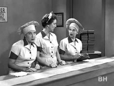 Lucy and Ethel get a job at the chocolate factory
