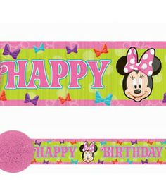 Amscan // Minnie Bow-tique Crepe Paper Streamer, 30' | 1 ct - $2.95