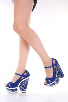 Blue Faux Suede Mirrored Trim Studded Detail Strappy Wedges @ Amiclubwear Wedges Shoes Store:Wedge Shoes,Wedge Boots,Wedge Heels,Wedge Sandals,Dress Shoes,Summer Shoes,Spring Shoes,Prom Shoes,Women's Wedge Shoes,Wedge Platforms Shoes,floral wedges,Fashion