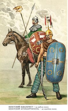 Celtic Noble Cavalryman and Standard Bearer