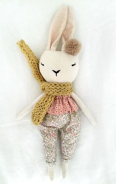 Handmade Bunny Doll by lespetitesmainsS on Etsy