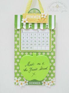 Doodlebug Design Inc Blog: Summertime  Memo Holder by Melinda Spinks