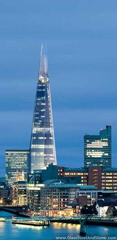 """""""Shard of Glass Tower,"""" London, Renzo Piano, architect"""