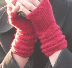 Pattern for lovely fingerless gloves that use less than 140 yd of dk weight yarn.