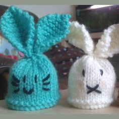 Innocent Smoothies Big Knit Hat Patterns - Rabbit