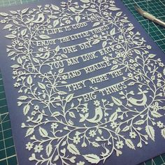Life is Good papercut by Suzy Taylor