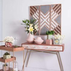 X marks the spot. Three separate wood panels combine to form one graphic pattern. The multi-level pattern adds depth and dimension. Place them together over a sofa, a mantle or console table for and rustic chic display. Dimensions (in)W 12.0 x H 36.4 x L 0.8