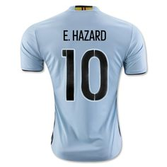 Belgium Euro 2016 Away Men Soccer Jersey E. HAZARD #10