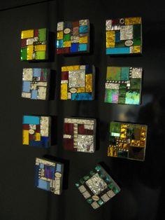 A dozen square mosaics