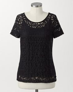 Ribbon lace top | Coldwater Creek
