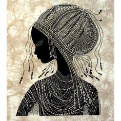'Girl from Nanyuki' Heidi Lange Screen Print from Artisans Exchange