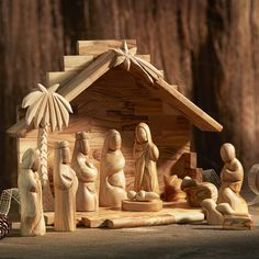 olive wood nativity set by traidcraft | notonthehighstreet.com
