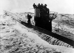 U-Boats ~ U-Boat war: German submarine on mission in the aAtlantic ocean .horizon obeservation from the tower (sail) May 1942 - Getty Images ~ BFD