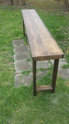 Outdoor Bar Table, Bar Tables, Outdoor Decor, Bar Height Table Diy, Bar Bench, Entry Tables, Patio Table, Bar Furniture, Rustic Furniture