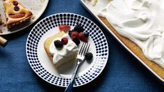 A riff on tres leches, this coconut-spiked spongecake is soaked in condensed milk, heavy cream, and -- in place of the usual evaporated milk -- coconut milk. Serve it with mixed berries and whipped cream.