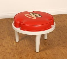 Paul Frank Stackable Ottoman Red