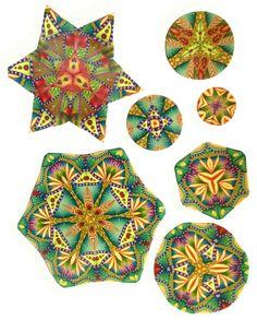 Kaleidoscope designs by Paula Kennedy, Simmons Master Cane Workshop, Oct, 2014 CarolSimmonsDesigns.com