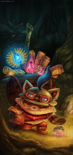 League of Legends Contest Picture  (2d, fan art, league of legends, fantasy, cat, journey)