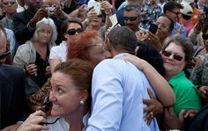 @whitehouse The White House  Photo of the Day: After a speech in Tampa, President Obama embraces audience members: