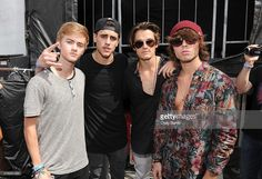 Jack Johnson, Jack Gilinsky, Kenny Holland and Wesley Stromberg attend Mudd and Op present Digifest at Citifield on June 2015 in New York City. Kenny Holland, Wesley Stromberg, Drew Chadwick, Jack Gilinsky, Jack Johnson, Jack And Jack, Christmas Sweaters, Boys, June
