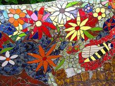 Pretty mosaic flowers