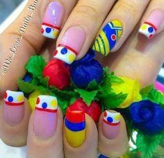 Nails Bar, Crazy Nails, Pedicure, Nail Designs, Hair Beauty, Margarita, Cami, Nailart, House