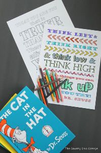 Printable Dr. Seuss Coloring Pages