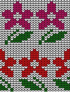 00008 Knitting Charts, Lace Knitting, Knitting Socks, Knitting Patterns, Sewing Stitches, Embroidery Stitches, Flower Chart, Mittens Pattern, Fair Isle Knitting