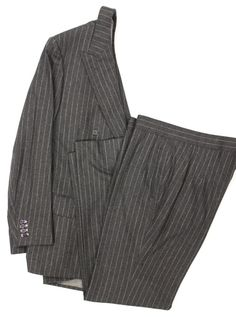 Alfred Dunhill Tailors Char Grey Flannel DB Suit