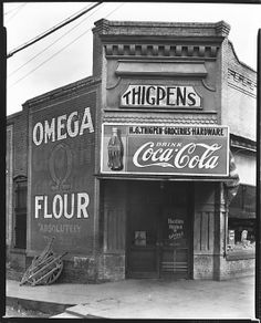 Walker EVANS :: Thigpens Groceries and Hardware Store, Marion, Alabama, 1936--town where many of Mike's ancestors came from.