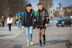 STYLE DU MONDE / Paris Fashion Week FW 2016 Street Style: Edie Campbell and Binx Walton  // #Fashion, #FashionBlog, #FashionBlogger, #Ootd, #OutfitOfTheDay, #StreetStyle, #Style